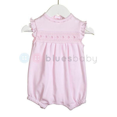 Baby girls Zip Zap pink summer romper 1 3 6 months smocked outfit new baby gift