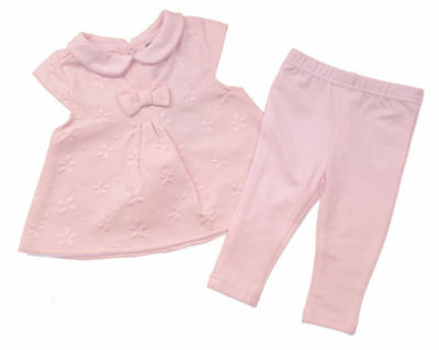 Baby girls pink flower summer dress leggings  0-3-6-12 months outfit new gift