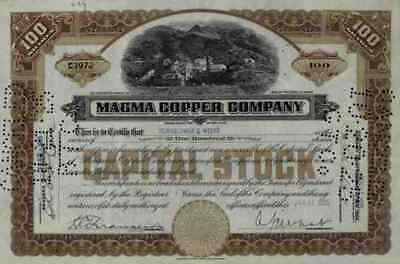 Magma Copper Company 1925 Maine Superior Webster Newmont Mining Ely Nevada 100 S