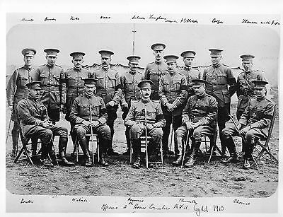 "Photograph Kent Volunteer Artillery Soldiers Officers British Army 8.5"" x 6.5"""