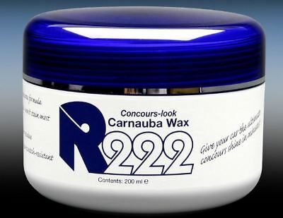 R222 Concours Brazilian Carnauba Wax 200ml Pot Car Van Detailing Previously P21S