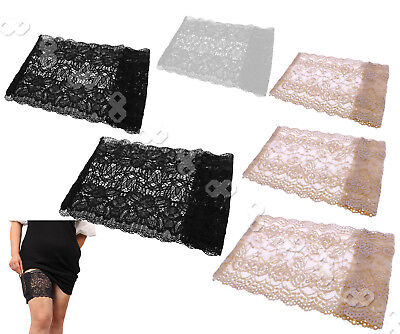 Soft Lace Non Slip Anti-Chafing Thigh Sock Prevent Thigh Chafing Nude/Black Sock