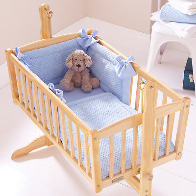 New Clair De Lune Blue Honeycomb Rocking Crib Universal Quilt And Bumper  Set