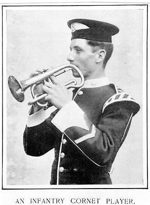 East Surrey Regiment Infantry Cornet Player 1906 Photograph Military Army