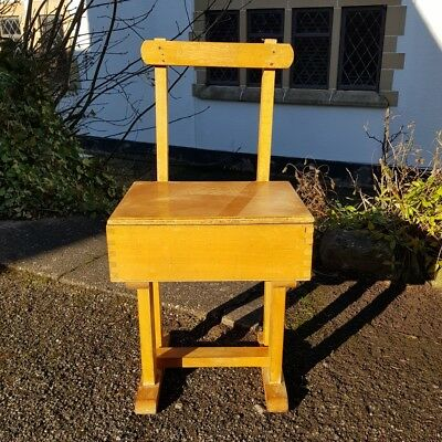 A Small Retro Mid Century Vintage Small Childs Chair with Lift Up Seat/Storage