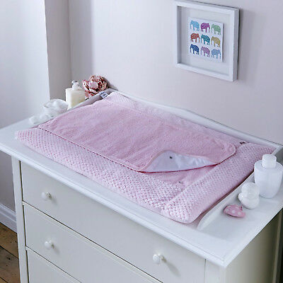 New Clair De Lune Honeycomb Pink Padded Baby Changing Mat With Cover