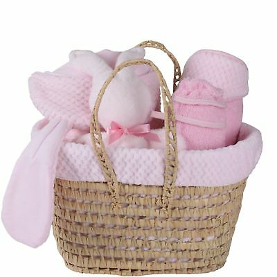 New Clair De Lune Blue Honeycomb Polly Nursery Gift Basket With Accessories