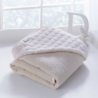 New Clair De Lune Cream Marshmallow Baby Soft Hooded Bath Time Towel