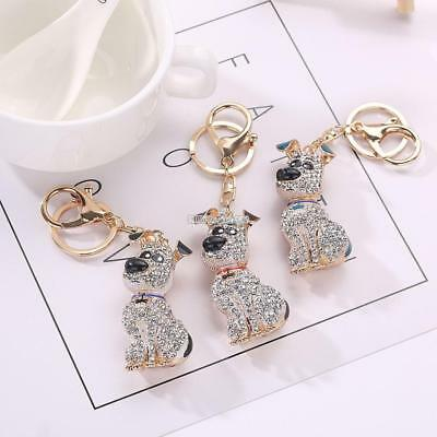 Cute Crystal Animal Shape Pendant 30mm Keyring Key Chain with Hook Bag RR6