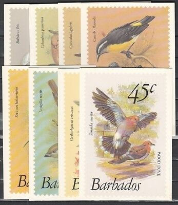 Barbados, Scott cat. 497~507. Bird Definitive values as Agency Post Cards.