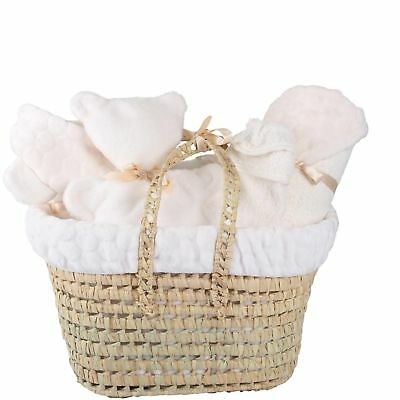 New Clair De Lune Cream Marshmallow Polly Nursery Gift Basket With Accessories
