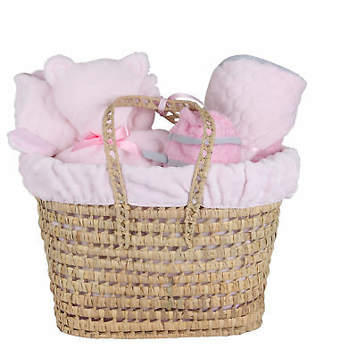 New Clair De Lune Pink Marshmallow Polly Nursery Gift Basket With Accessories
