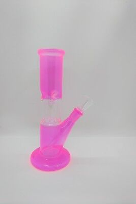 Hookah PINK Water Pipe Bong Percolator Glass 8 inch – Clear w/ thick glass base