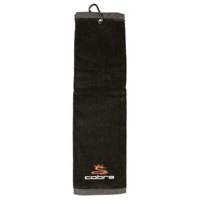 Cobra Golf 2017 Embroidered Cotton Tri-fold Towel - Black