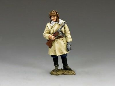King & Country Soldiers RA029 World War II Red Army Winter Tanker With PPSH