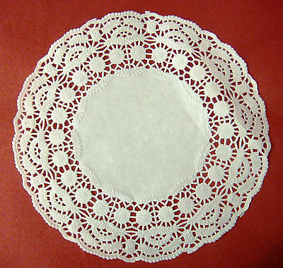 "250 X ROUND PAPER DOYLEYS 9.5"" (241mm) SWANTEX RD-95 DOILIES DOYLIES BARGAIN"