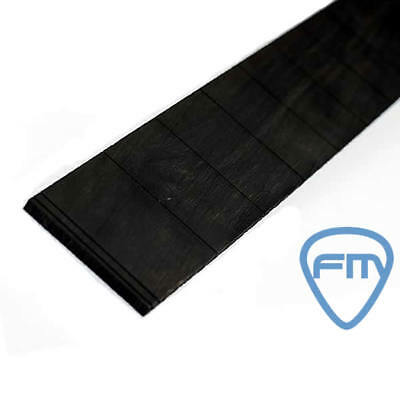 Slotted EBONY Fingerboard fo GUITAR- Various Size - TONEWOOD - Fretboard