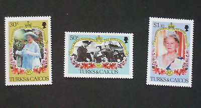 Turks & Caicos 1985 Queen Mother's 85th Birthday set UM MNH unmounted mint