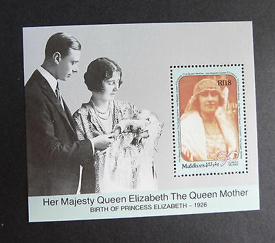 Maldives 1990 Queen Mother's 90th Birthday MS miniature sheet UM MNH unmounted