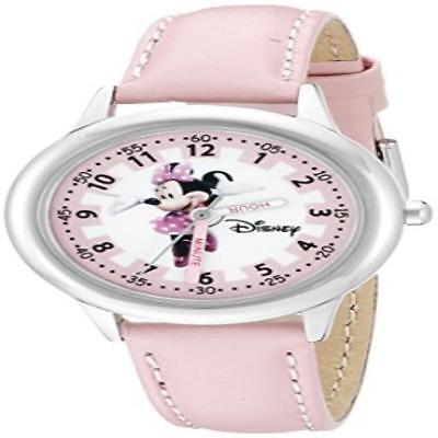 ❤ Disney Minnie Mouse Girls Stainless Steel Pink Time Teacher Watch One Size Wat
