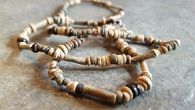 Ancient EGYPTIAN Mummy Bead Necklace, Restrung, c.600 - 300 BC, 21 Inches, #5