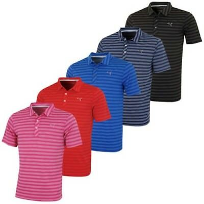 c92eb53640 Puma Golf Mens Essential Mixed Stripe DryCell Tech Golf Polo Shirt - 43% OFF