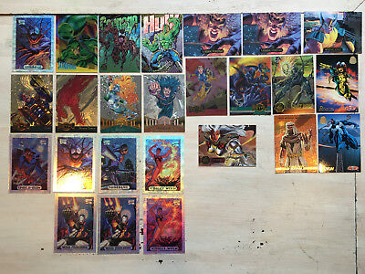 MARVEL CARD LARGE LOT OF CARDS FROM DIFFERANT SETS 1993 Masterpiece 95 94 92 91