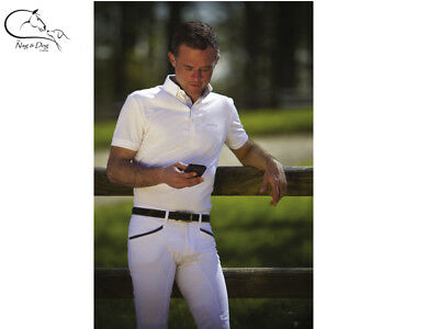 Equitheme Gents Mens Mesh Technical Competition Show Shirt Jumping Dressage