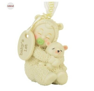 Department 56 Snowbabies Baby's First 1st Christmas Ornament 4058875 R2017