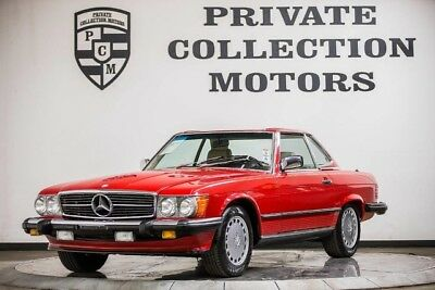 1988 Mercedes-Benz SL-Class Base Convertible 2-Door 1988 Mercedes Benz 560SL Clean Carfax Pristine Low Miles Well Kept