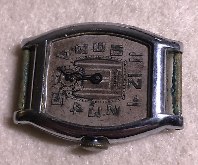 Vintage Savoy Men's Watch Parts/Repair Art Deco Swiss Case Wrist 15 Jewels
