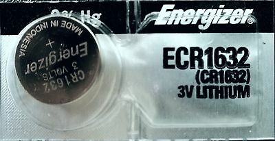 1 Piece FRESH ENERGIZER CR1632 ECR1632 1632 3V Lithium Coin Battery Expire 2025