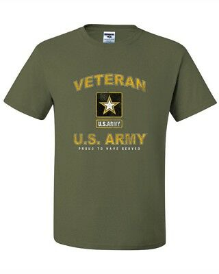 United States Army Veteran proud to have served Military Green Tee new T'shirt