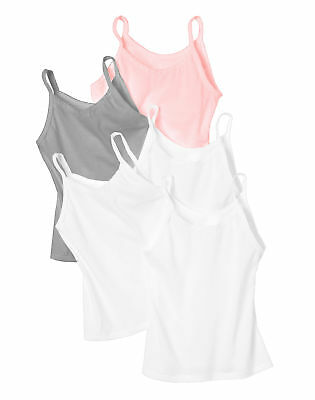 Hanes Girl Cami 5-Pack Tank Tops Tag Free Assorted Colors Under shirt sizes S-XL