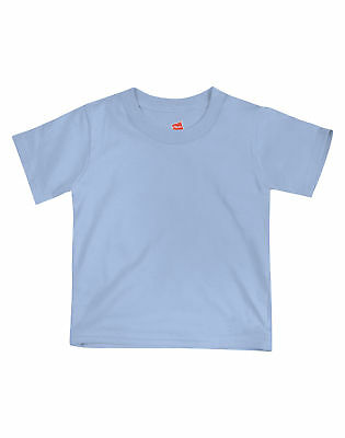Hanes Crewneck Toddler T-Shirt Girl Boy Playwear ComfortSoft 2T-4T 7 Colors NWT