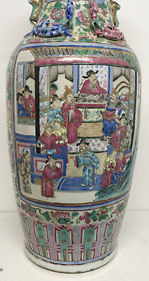 Original Early 19 Th Century Large Chinese Famille Rose  Vase 60 Cm