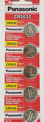 5 x SUPER FRESH Panasonic ECR2032 CR2032 Lithium Battery 3V Coin Cell Exp. 2027