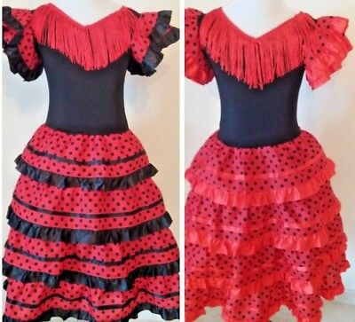 c74538468c740 New Traditional Girls Red Flamenco Dance Dress - Flamenco Dance, Classes,  Shows