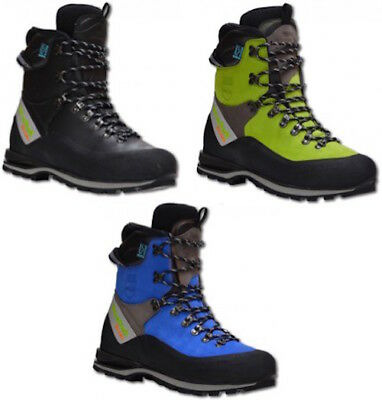 Arbortec Scafell Lite Forestry Chainsaw Protective Boots - Lime / Blue / Black