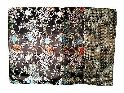Custom-Made in USA, Art Silk Throw or Bed Scarf, Black (6109)