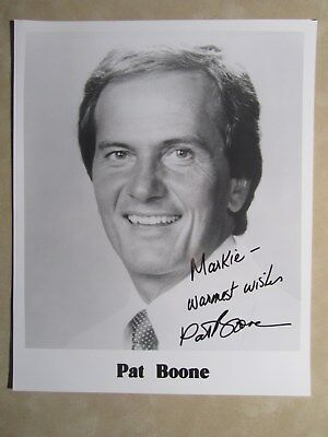 8x10 photo hand signed & inscribed by singer PAT BOONE