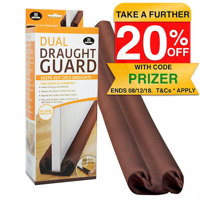 Draught Guard for Windows/Doors Double Sided Snake Wind Stopper/Block/Seal