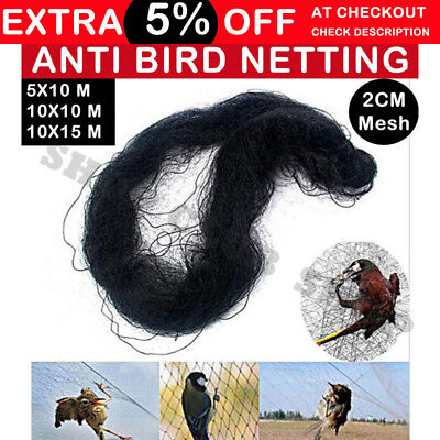 Commercial Fruit Tree Plant Knitted Anti Bird Netting Pest Net 8GSM 5-15M x 10M