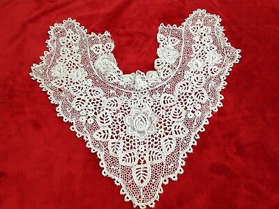 Antique Lacy Collar  - poss 100 yrs old Authentic but Imperfect Upcycle Repurpos