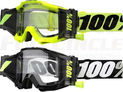 100% Accuri Forecast Roll Off Film System Goggles Motocross MX Off-Road ATV