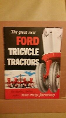 Ford Tricycle Tractors Brochure