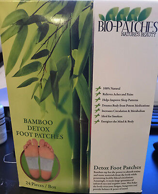 "Bio-Patches:Natural Detoxifying 24 Foot Patch  ""Bamboo"" + A-viva Nail Buffer"