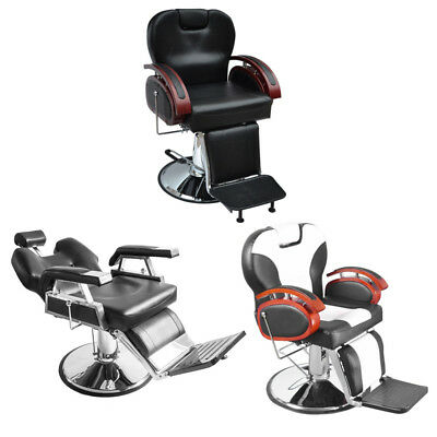 Salon Hairdressing Barber Chair RecliningSwivel Headrest Beauty Couch Adjustable