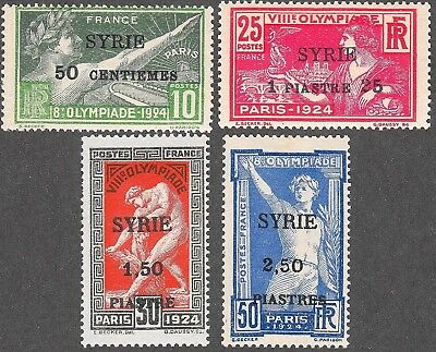 SYRIA Scott 133-136 MH - 1924 Olympic Games French Surcharges