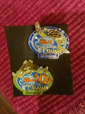 Disney Nemo Crush pins. lanyard pins. Two pins